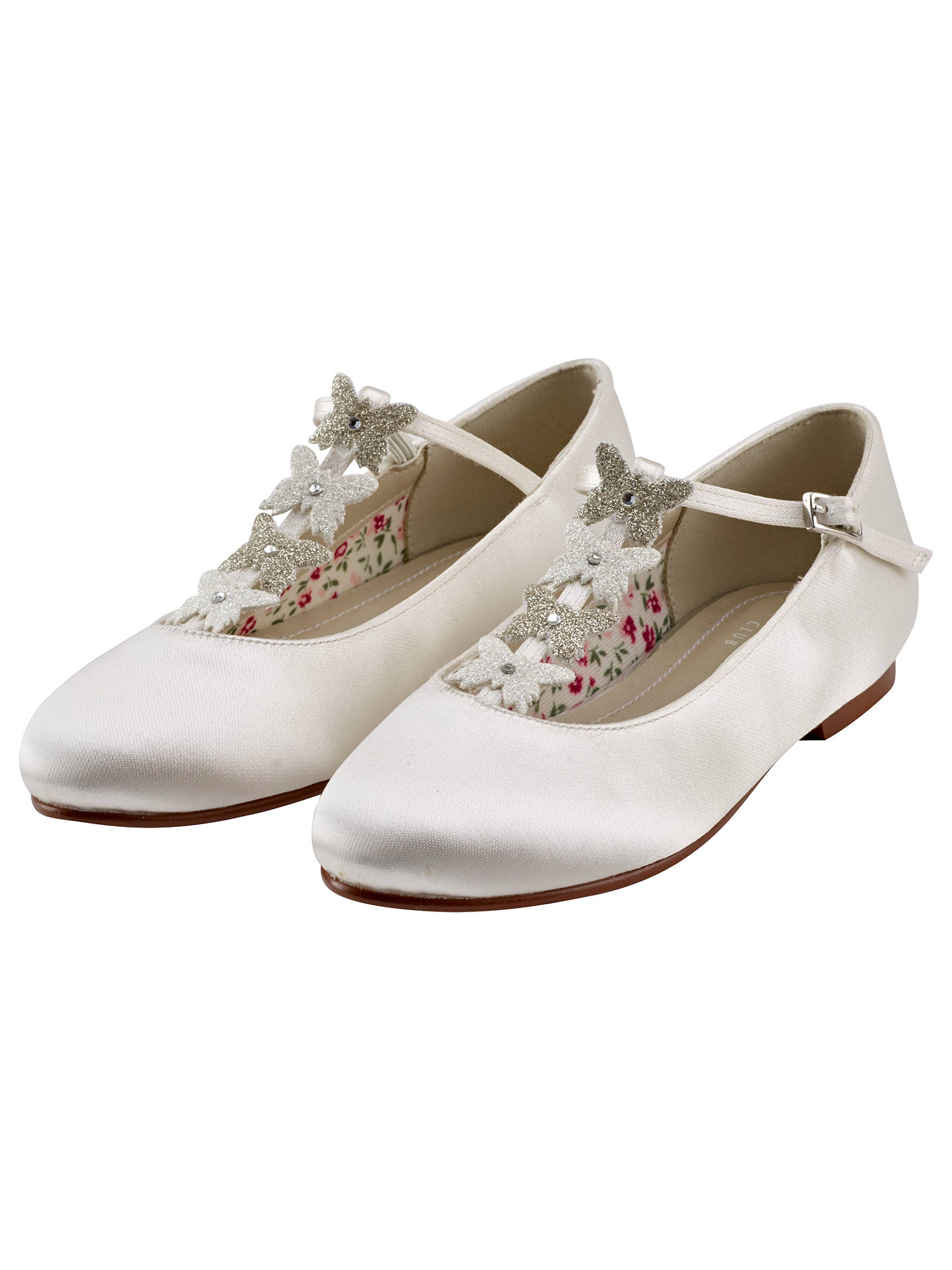 BuyRainbow Club Kady Bridesmaids' Shoes, Ivory, 6 Jnr Online at johnlewis.com