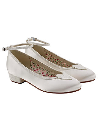 Buy Rainbow Club Minnie Bridesmaids' Shoes, Ivory, 12 Jnr Online at johnlewis.com