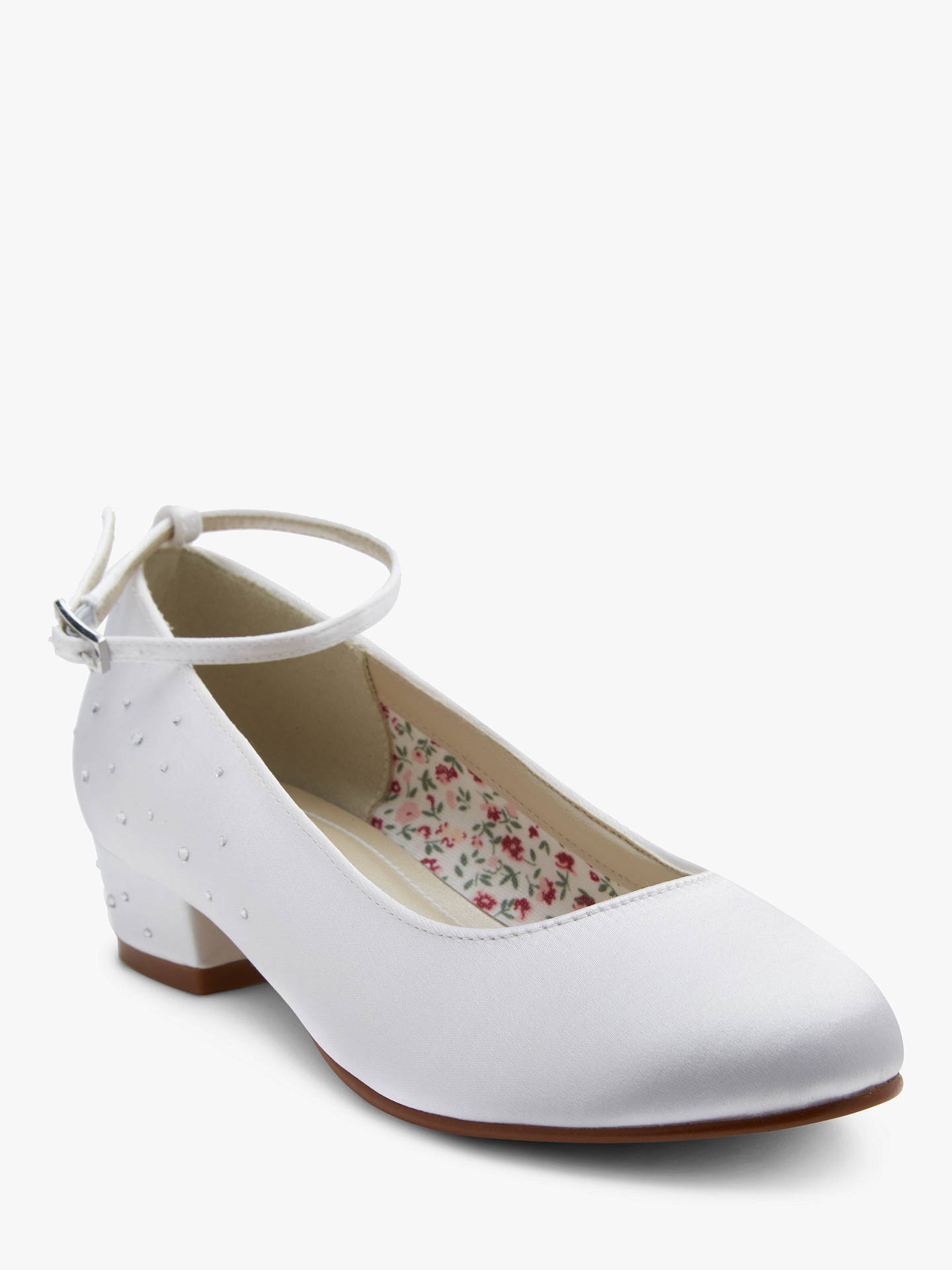 BuyRainbow Club Maple Bridesmaids' Shoes, White, 12 Jnr Online at johnlewis.com