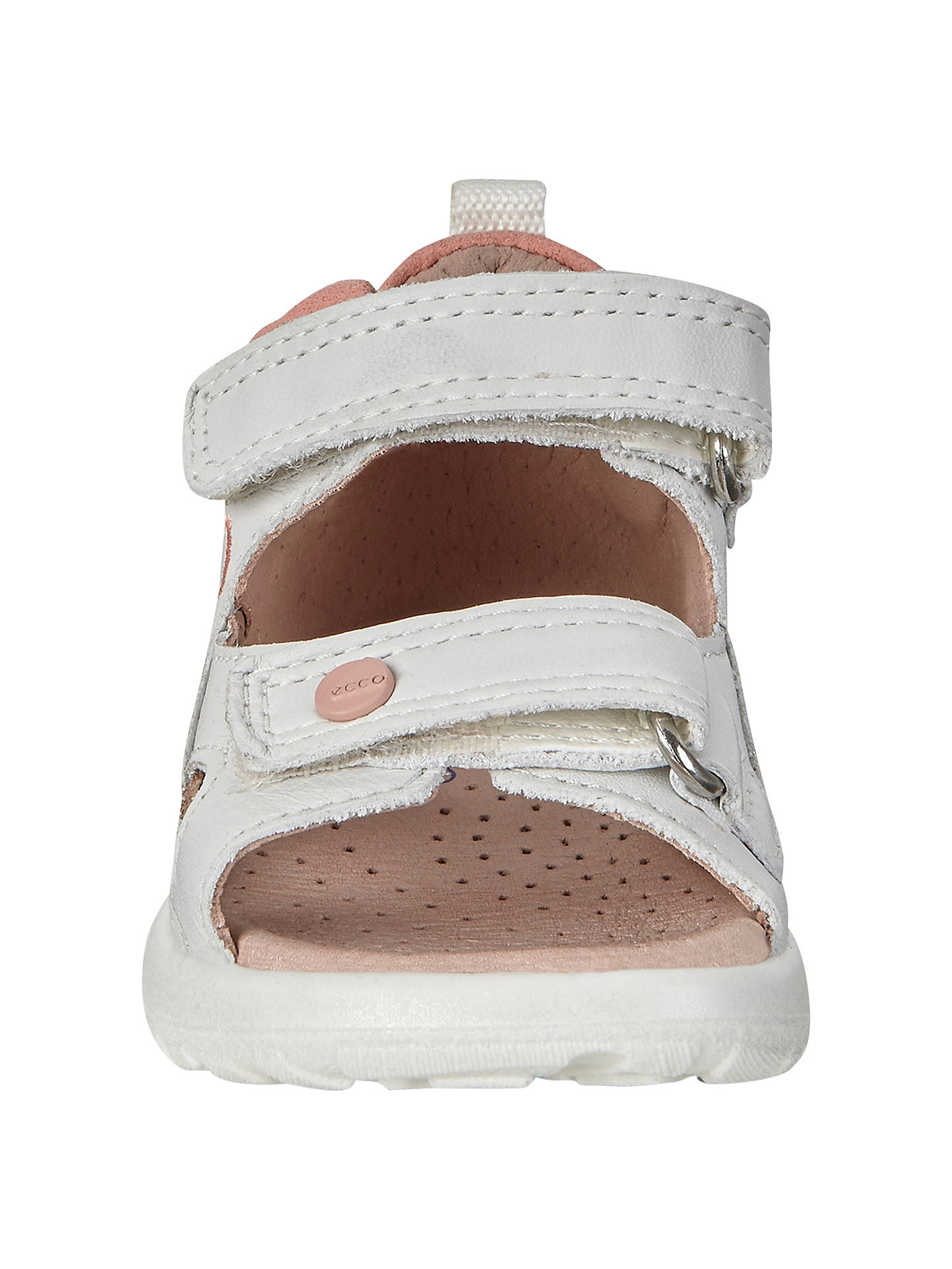 3d334f8ad02b5 ... Buy ECCO Peekaboo Leather Sandals, White/Pink, 20 Online at  johnlewis.com ...