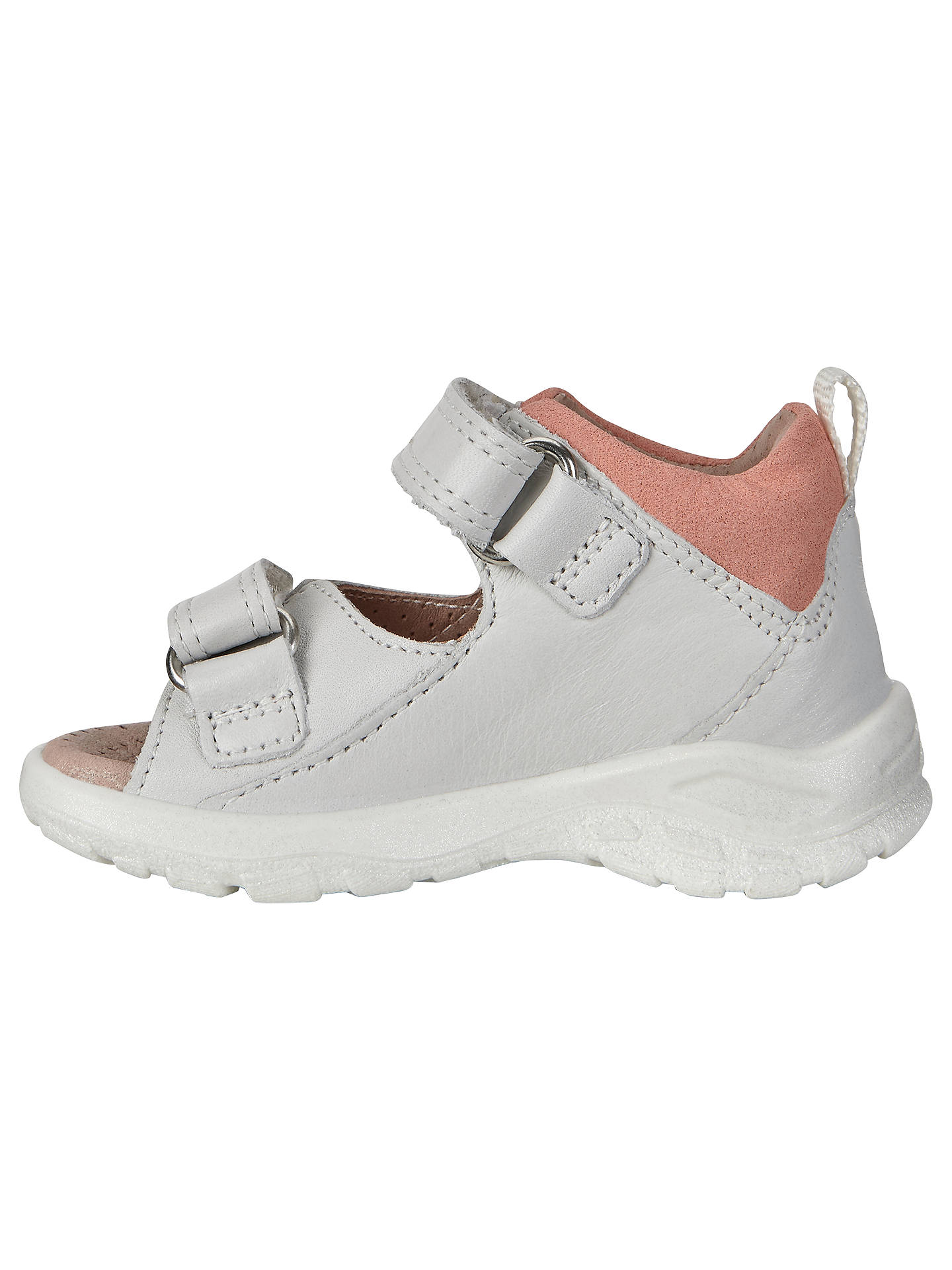 cb3f7663203a3 ... Buy ECCO Peekaboo Leather Sandals, White/Pink, 20 Online at  johnlewis.com