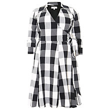 Buy Studio 8 Alice Gingham Dress, Black/White Online at johnlewis.com