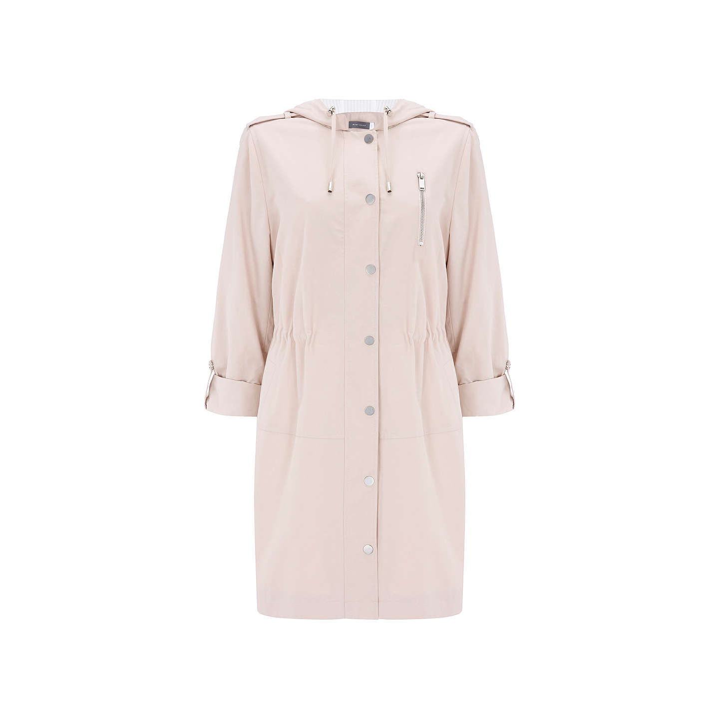BuyMint Velvet Blossom Stripe Lined Parka, Light Pink, 6 Online at johnlewis.com