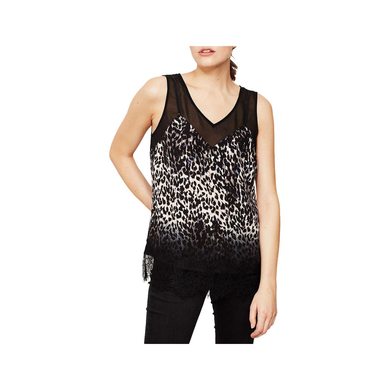 Mint Velvet Ellen Print Lace Camisole Multi at John Lewis