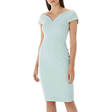 Buy Coast Jessa Bardot V Midi Shift Dress, Mint Online at johnlewis.com