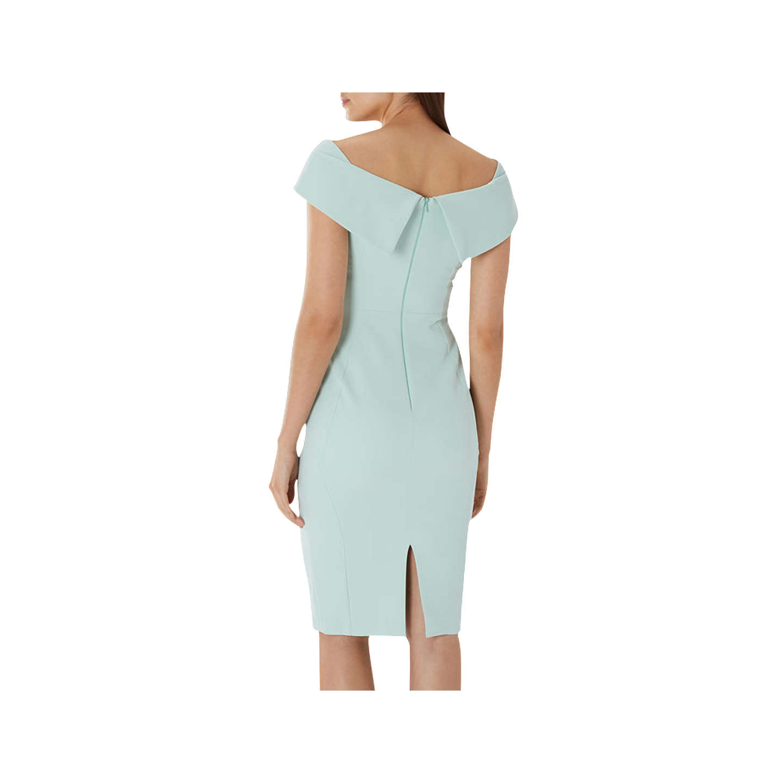Coast Jessa Bardot V Midi Shift Dress, Mint at John Lewis