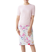 Buy Pure Collection Floral Digital Print Pencil Skirt, Off White/Multi Online at johnlewis.com