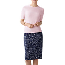 Buy Pure Collection Floral Print Pencil Skirt, Navy Online at johnlewis.com