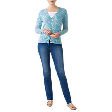 Buy Pure Collection Cashmere Leaf Print V-Neck Cardigan Online at johnlewis.com