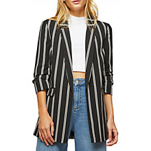 Buy Miss Selfridge Stripe Ruched Sleeve Blazer, Multi Online at johnlewis.com