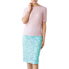Buy Pure Collection Leaf Print Pencil Skirt, Multi Online at johnlewis.com