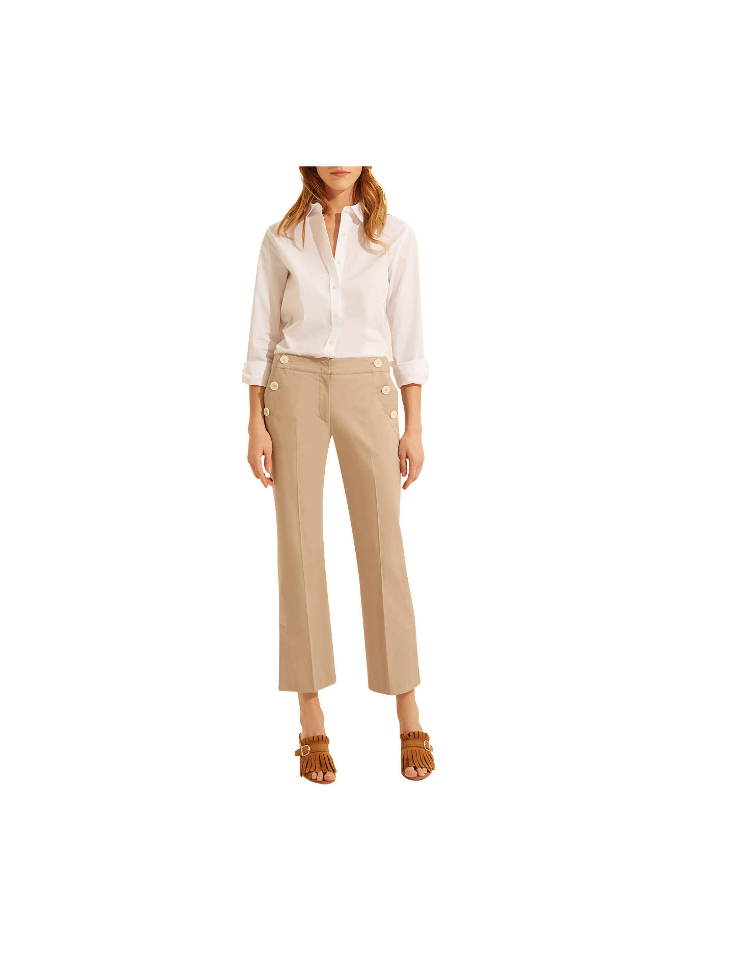 BuyGerard Darel Mandy Trousers, Beige, 8 Online at johnlewis.com