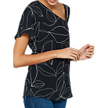 Buy Mint Velvet Summers Print Asymmetric Top, Multi Online at johnlewis.com
