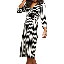 Buy Miss Selfridge Stripe Wrap Midi Dress, Multi Online at johnlewis.com