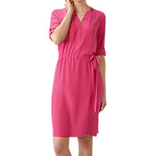 Buy Pure Collection Silk Tie Waist Dress, Fuschia Online at johnlewis.com