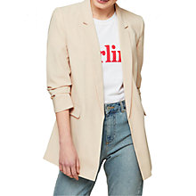 Buy Miss Selfridge Ruched Sleeve Blazer, Camel Online at johnlewis.com