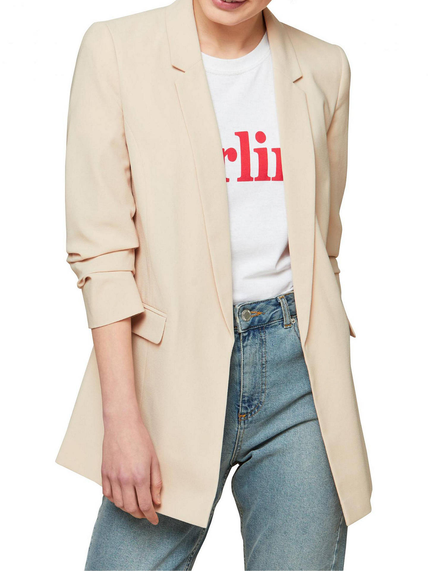 Miss Selfridge Ruched Sleeve Blazer at John Lewis & Partners