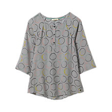 Buy White Stuff Brigitta Circle Print Top, Cafe Grey Online at johnlewis.com