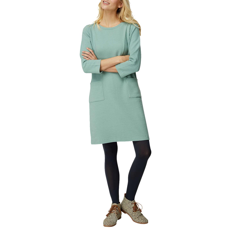 White Stuff Brooke Textured Jersey Dress   Green at John Lewis