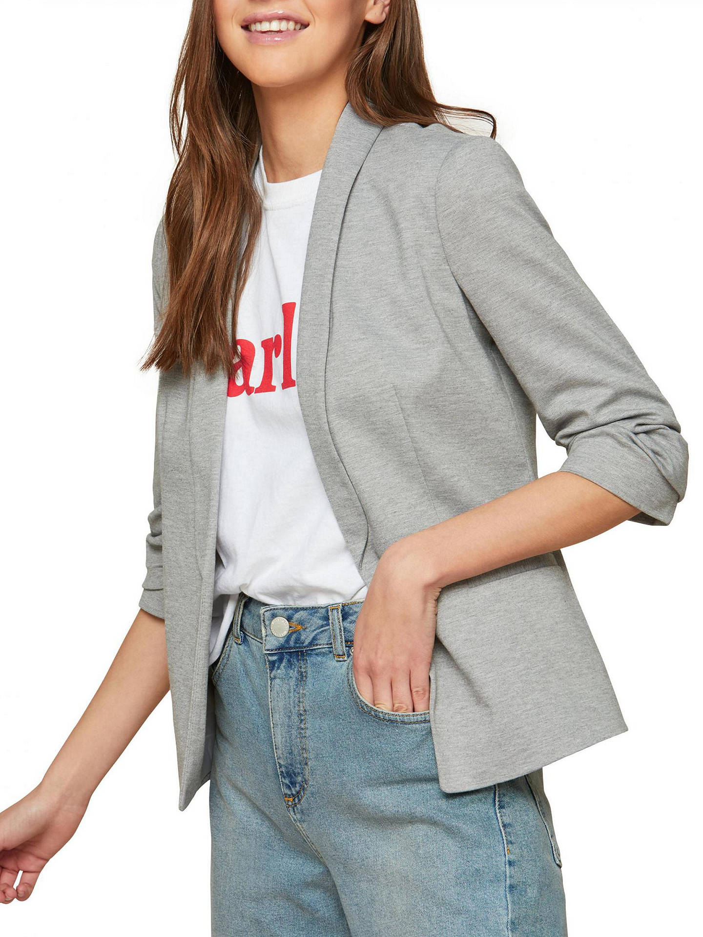 3cdebba4c31cb BuyMiss Selfridge Ruched Sleeve Ponte Jacket