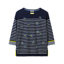 Buy White Stuff Captain Embroidered Stripe Jumper Online at johnlewis.com