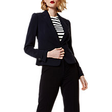 Buy Karen Millen Button Detail Blazer, Navy Online at johnlewis.com
