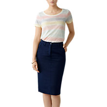 Buy Pure Collection Cotton Chino Skirt Online at johnlewis.com