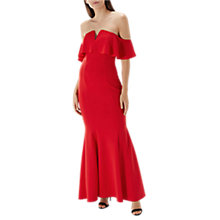 Buy Coast Sade Scuba Dress, Red Online at johnlewis.com