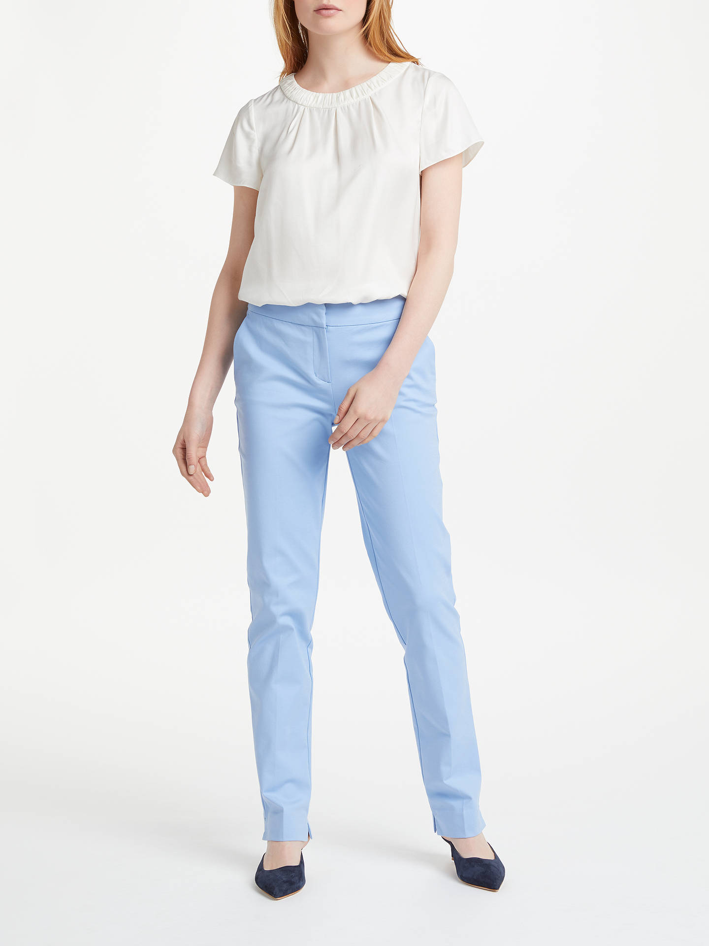 Buy Boden Richmond Trousers, Hazy Blue, 6 Online at johnlewis.com