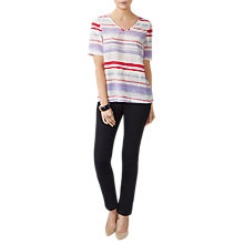 Buy Pure Collection Ombre Silk V-Neck Top, Pink/Multi Online at johnlewis.com