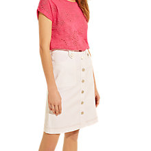 Buy Gerard Darel Albane Skirt, White Online at johnlewis.com