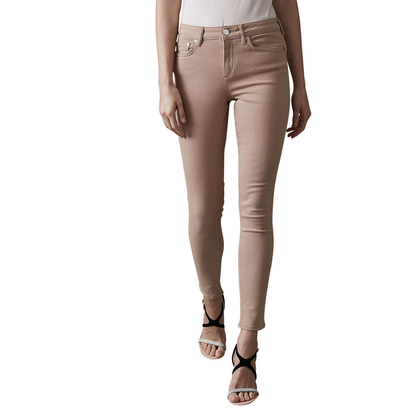 Stevie - Mid Rise Skinny Jeans in Soft Pink, Womens, Size 24 Reiss