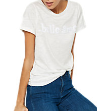 Buy Mint Velvet Belle Âme T-Shirt, Ivory Online at johnlewis.com
