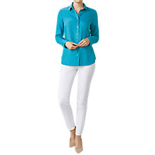 Buy Pure Collection Linen Shirt, Summer Teal Online at johnlewis.com