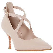 Buy Dune Adline Cross-Over Pointed Toe Court Shoe, Blush Online at johnlewis.com