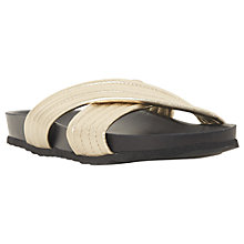 Buy Dune Linate Cross Strap Slider Sandals, Gold Online at johnlewis.com
