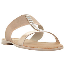 Buy Dune Llora T-Bar Mule Sandals, Rose Gold Online at johnlewis.com