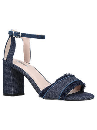 Buy Carvela Gigi Block Heeled Sandals, Denim, 3 Online at johnlewis.com