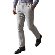 Buy Reiss Cassian Tailored Slim Fit Trousers, Grey Online at johnlewis.com
