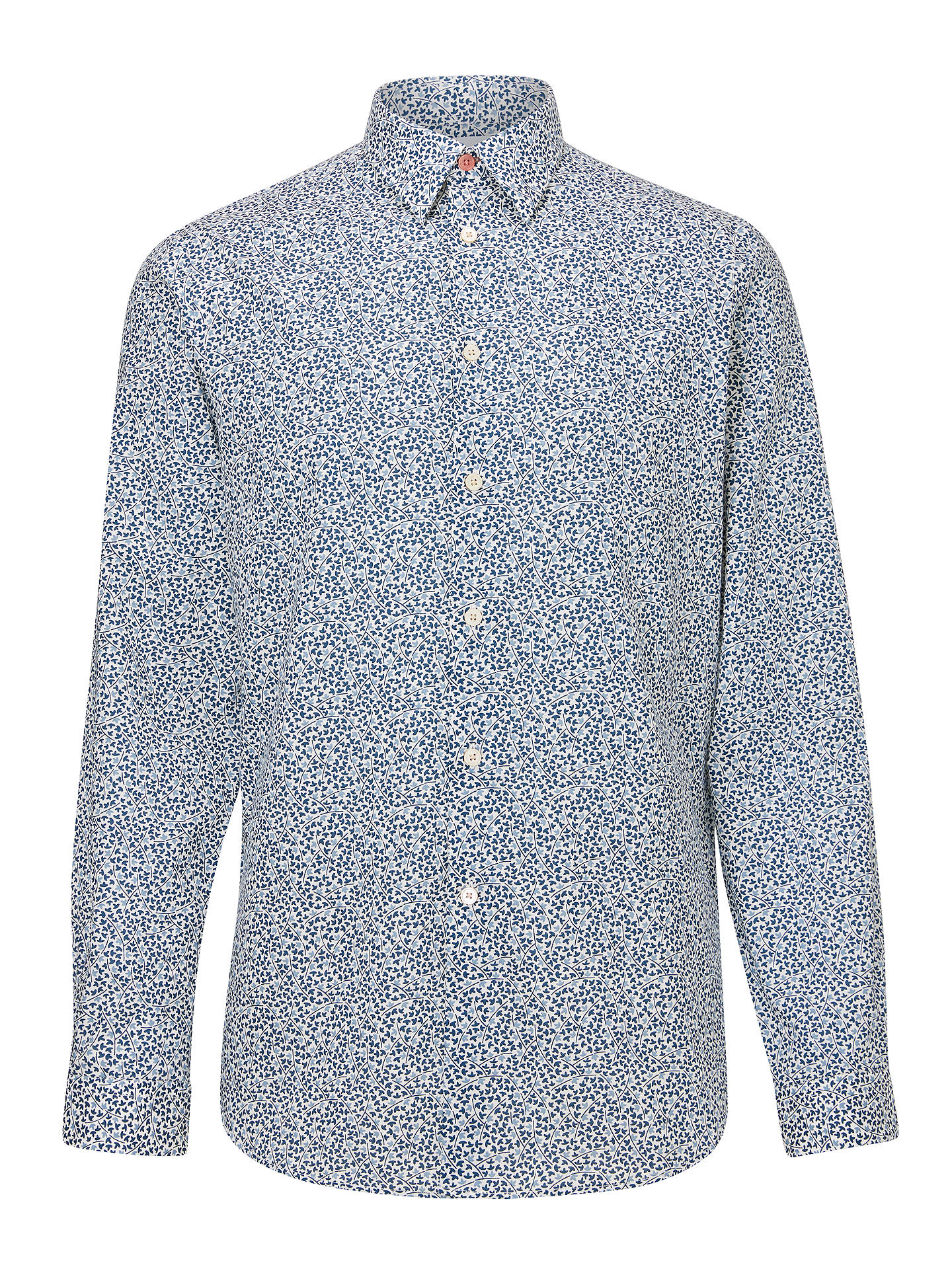 BuyPS Paul Smith Floral Shirt, Navy, 15 Online at johnlewis.com