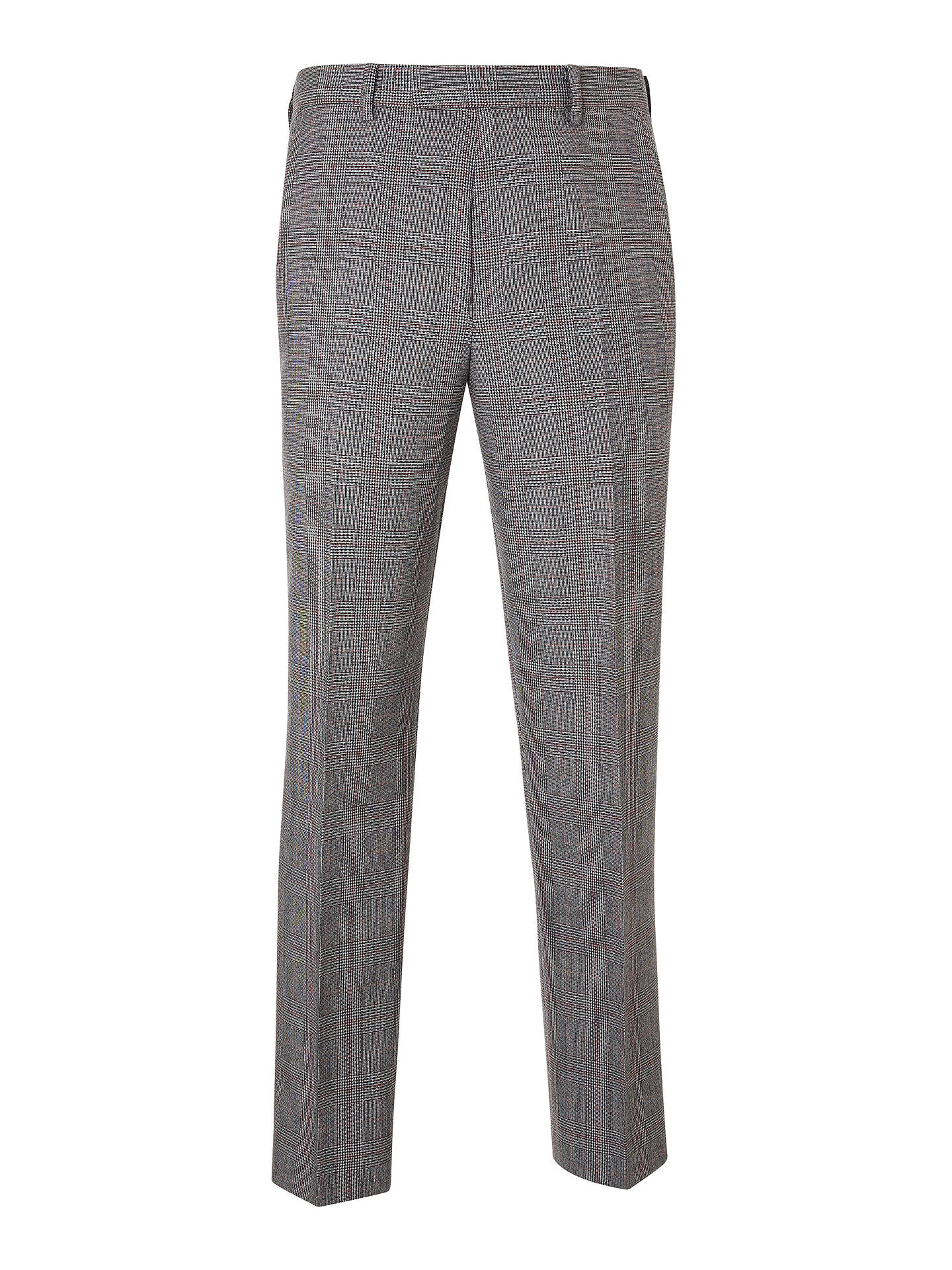 BuyJohn Lewis & Partners Check Regular Trousers, Black/White/Red, 32S Online at johnlewis.com