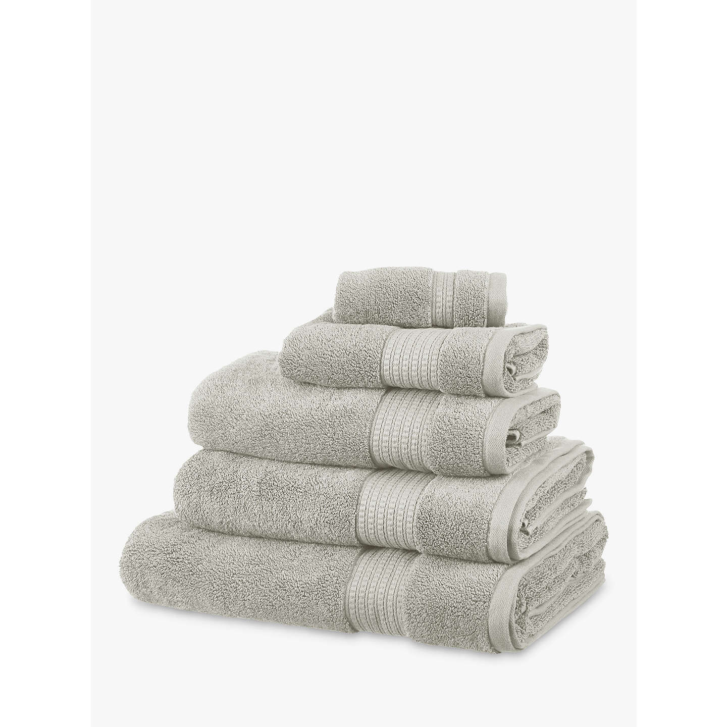 BuyJohn Lewis Supima Cotton Face Cloth, Pack of 2,Silver Grey Online at johnlewis.com