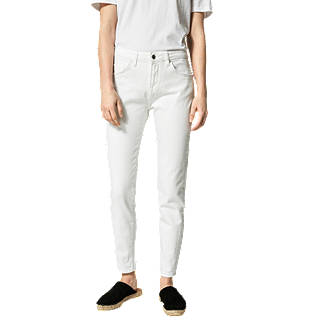Selected Femme Fida Cropped Jeans, White
