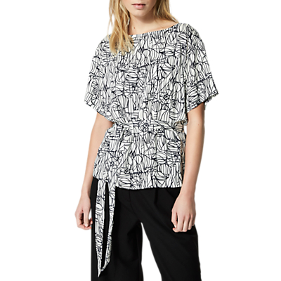 Selected Femme Gramma Printed Top, Birch