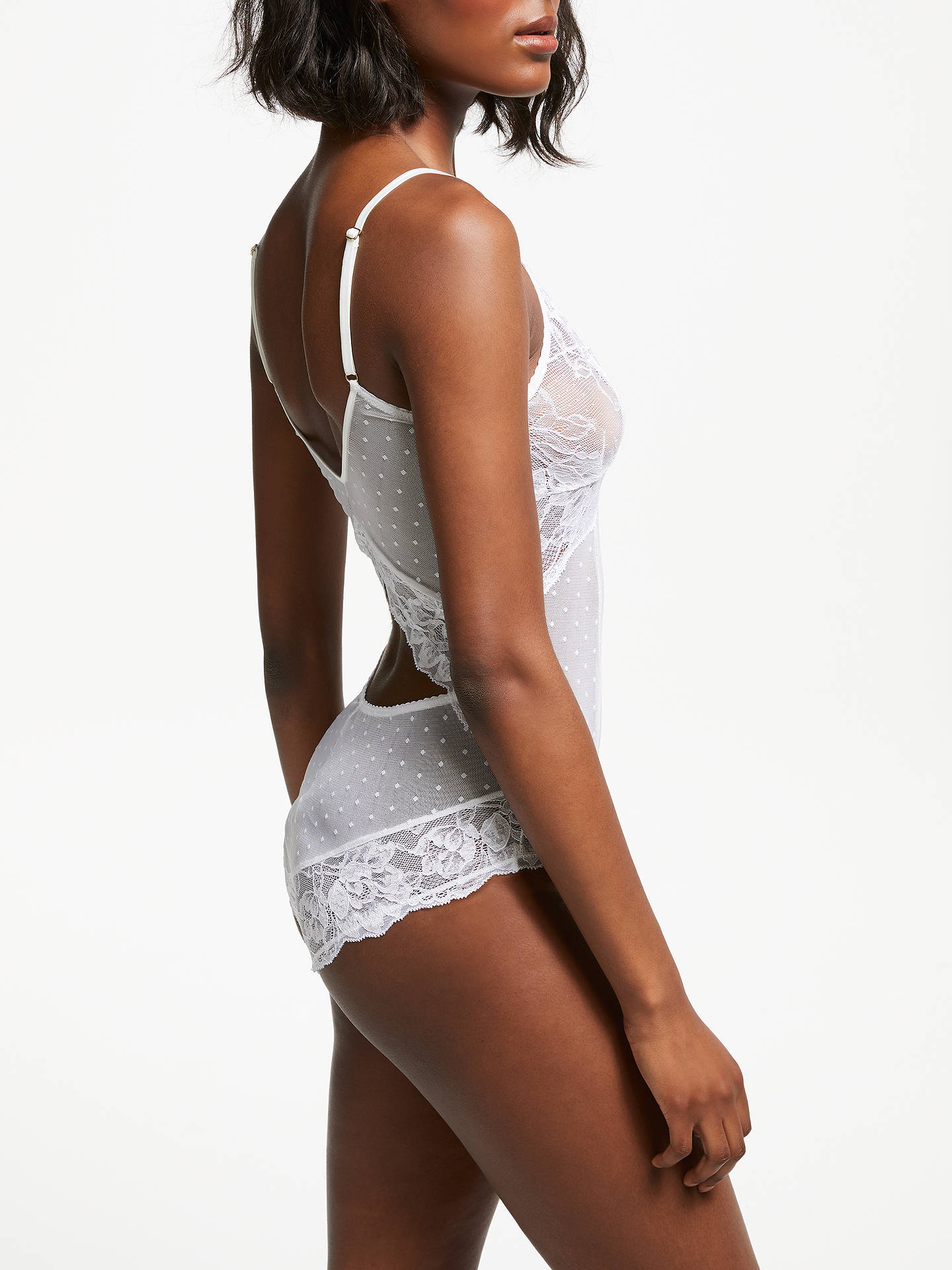 BuyAND/OR Arabella Lace Body, White, S Online at johnlewis.com