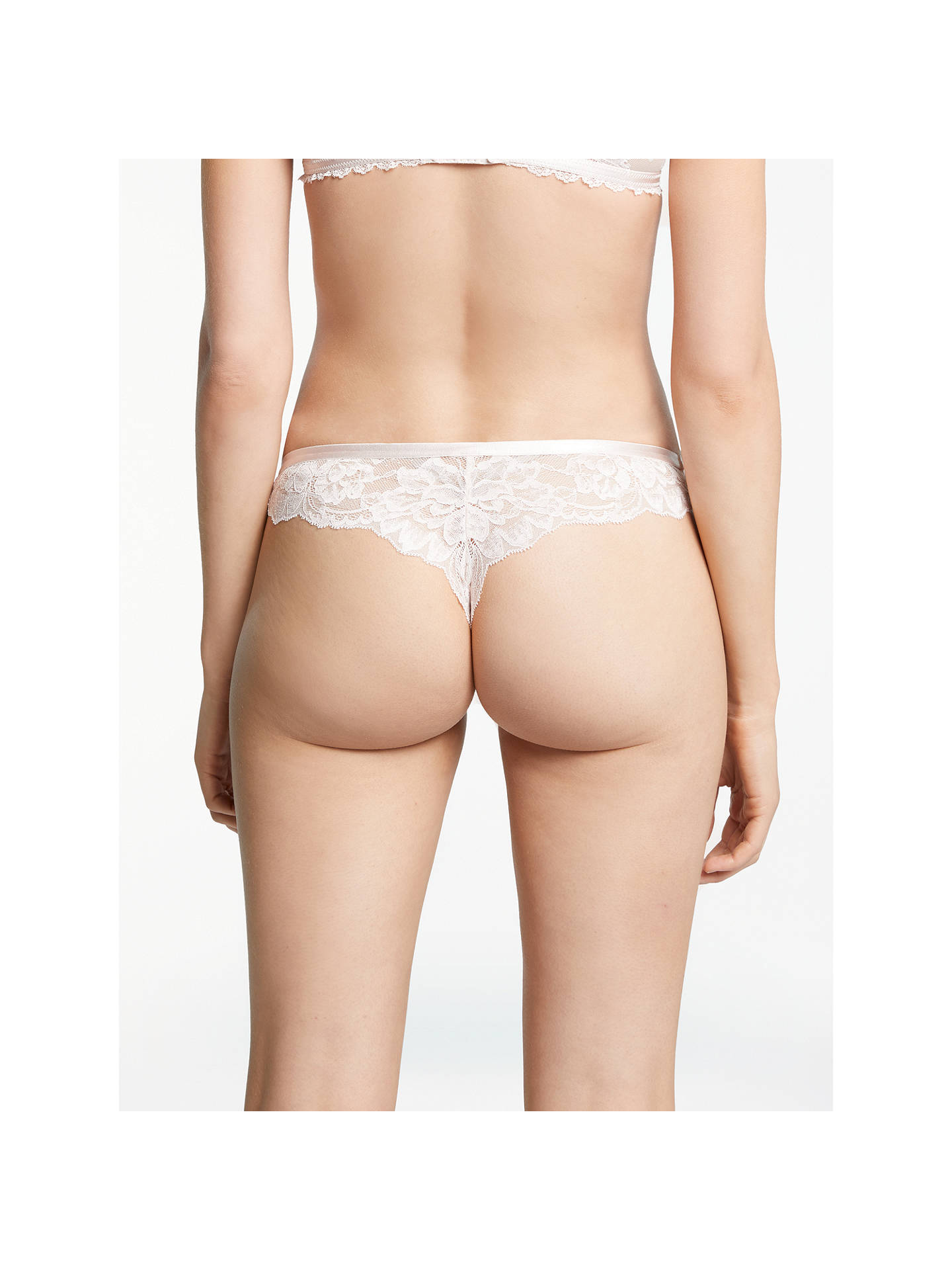 Buy AND/OR Arabella Lace Brazilian Brief, Gossamer Pink, 16 Online at johnlewis.com