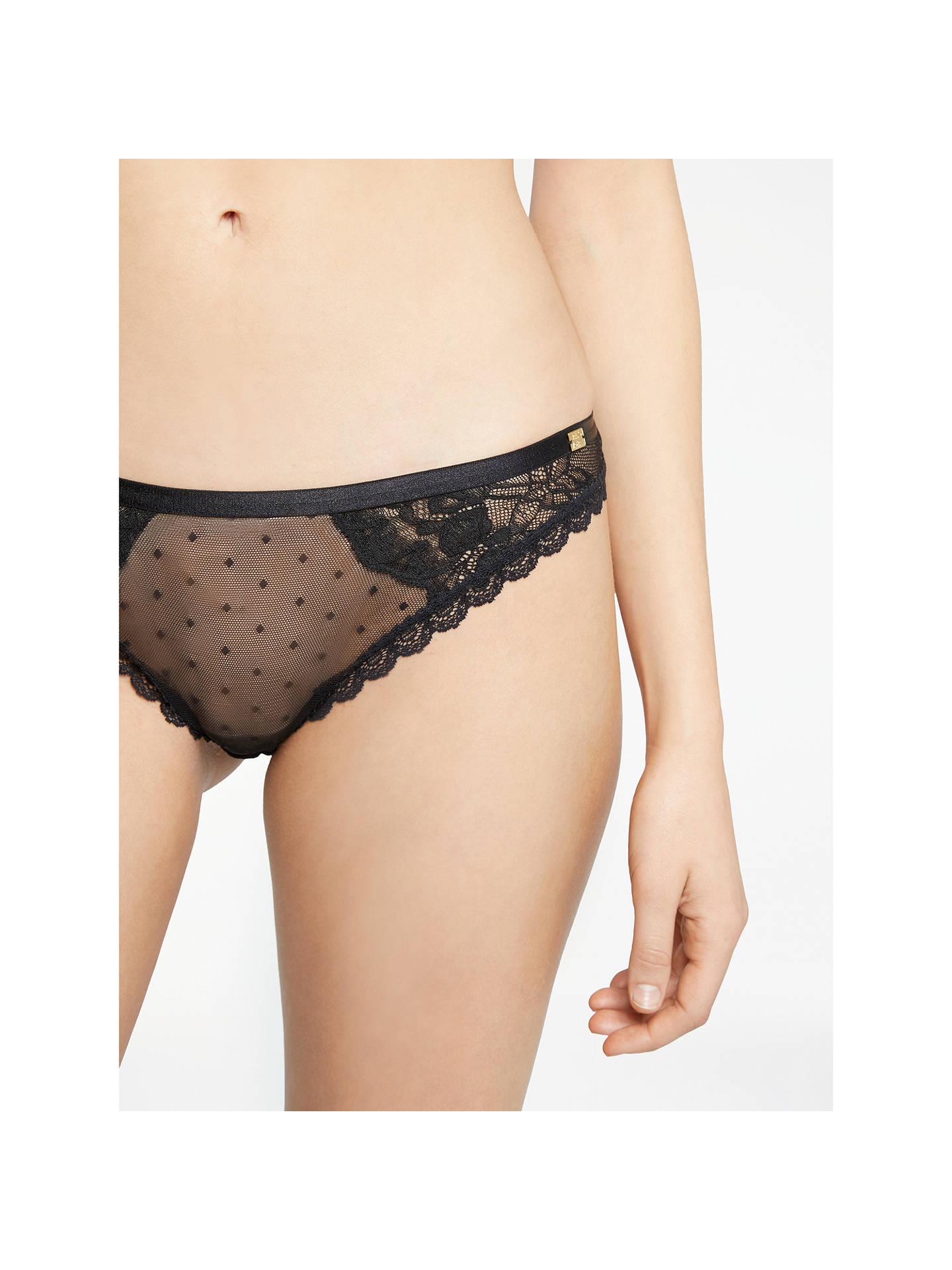 BuyAND/OR Arabella Lace Brazilian Brief, Black, 8 Online at johnlewis.com