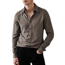 Buy Reiss Fallen Crepe Slim Fit Shirt Online at johnlewis.com