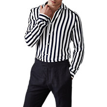 Buy Reiss Finnie Stripe Slim Fit Shirt Online at johnlewis.com