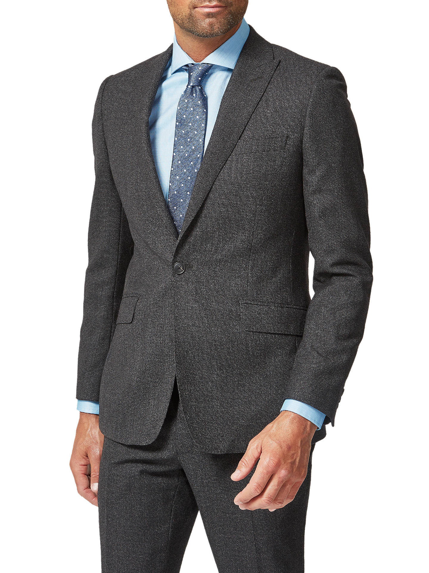 Buy Richard James Mayfair Wool Flannel Suit Jacket, Charcoal, 44R Online at johnlewis.com